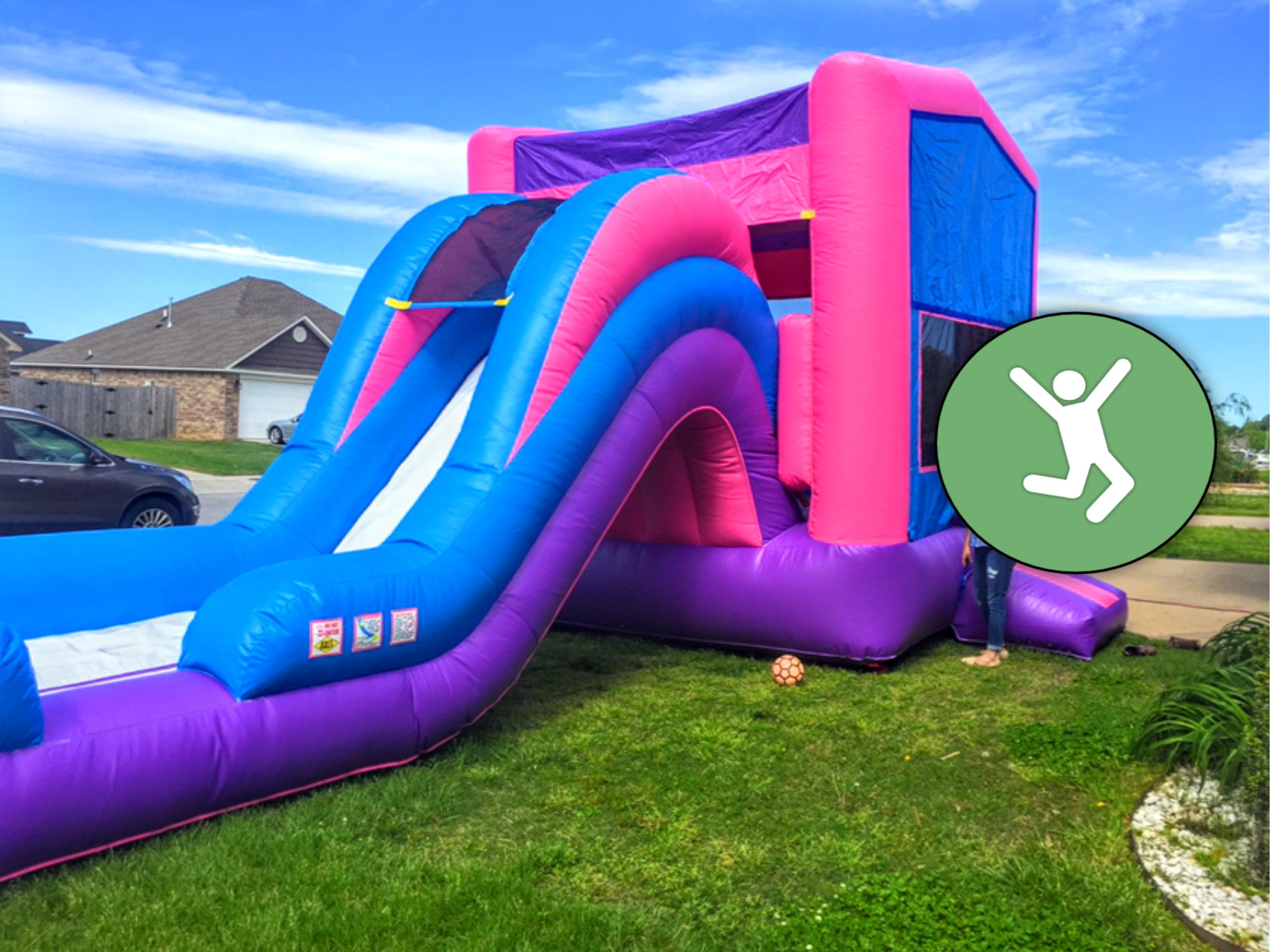 ijump Party Rentals Northwest Arkansas Inflatables Purple Bounce House